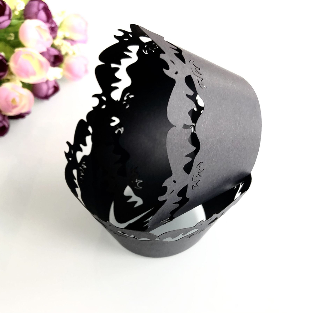Image 5 - 24pcs Cake Wrappers Witch Hollow Decorative Halloween Cupcake Wrappers Paper Cake Cups Muffin Cup Dessert Bowls Party Supplies-in Cake Decorating Supplies from Home & Garden