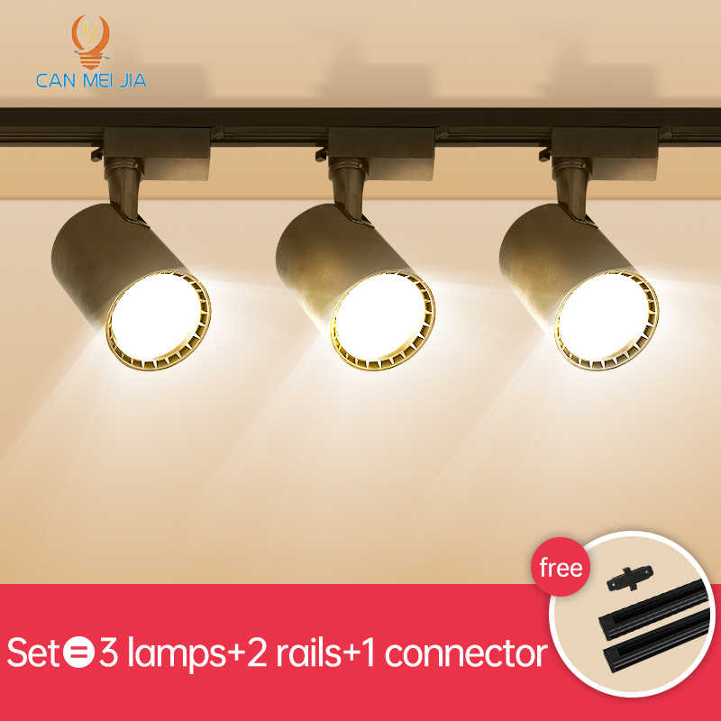 Full Set Cahaya Lampu Sorot Led 220V 12W 20W 30W 40W Rel Lampu Lampu led Track Perlengkapan Pencahayaan untuk Rumah Toko Pakaian