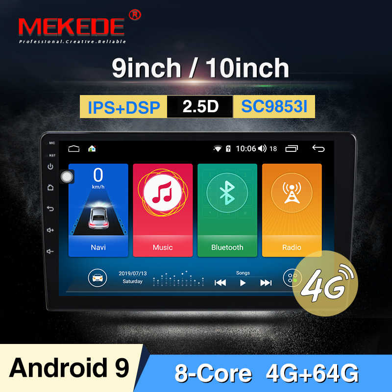 "Intel SC9853 9.0 2din Mobil Radio 9 10.1 ""Inch Android Sistem Auto Stereo 2.5D Kapasitif Layar Bluetooth WIFI gps"