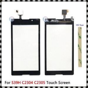 "Image 2 - באיכות גבוהה 5.0 ""עבור Sony Xperia C S39H C2304 C2305 מגע מסך Digitizer חזית זכוכית עדשת חיישן פנל"