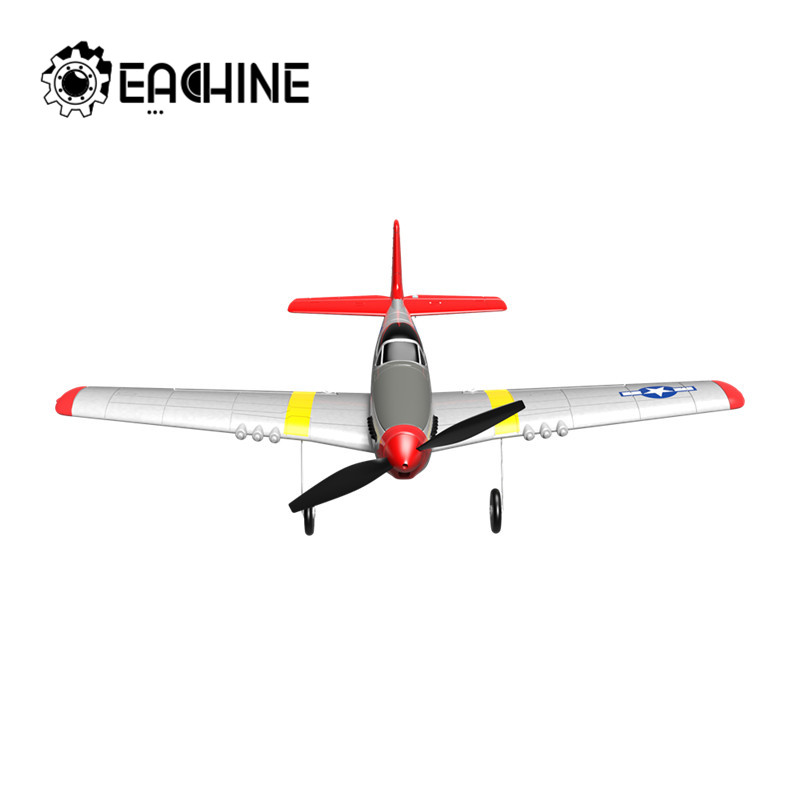 Eachine Mini P-51D EPP 400mm Wingspan 2.4G 6-Axis RC Airplane Trainer Fixed Wing RTF One Key Return for Beginner