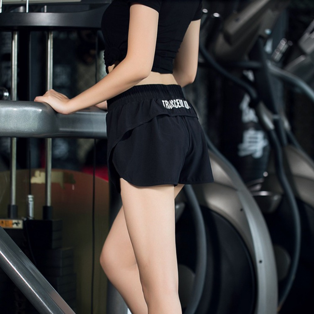 fashion women gym yoga shorts with pockets high waist Tight breathable Casual sport leggings short (5)