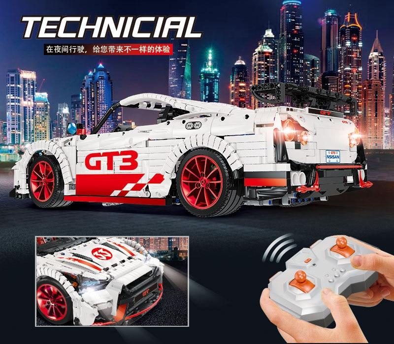 DHL 23010 3408 шт. Moc высокотехнологичный Nismo Nissan GTR GT3 скоростной гоночный спортивный автомобиль набор строительных блоков Кирпичи Модель игрушки 25326 6