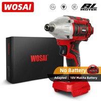 WOSAI-taladro eléctrico inalámbrico serie MT, destornillador de 300NM, 20V, Motor sin escobillas, controlador de impacto, modo de parada automática, herramienta eléctrica de mandril de 1/4