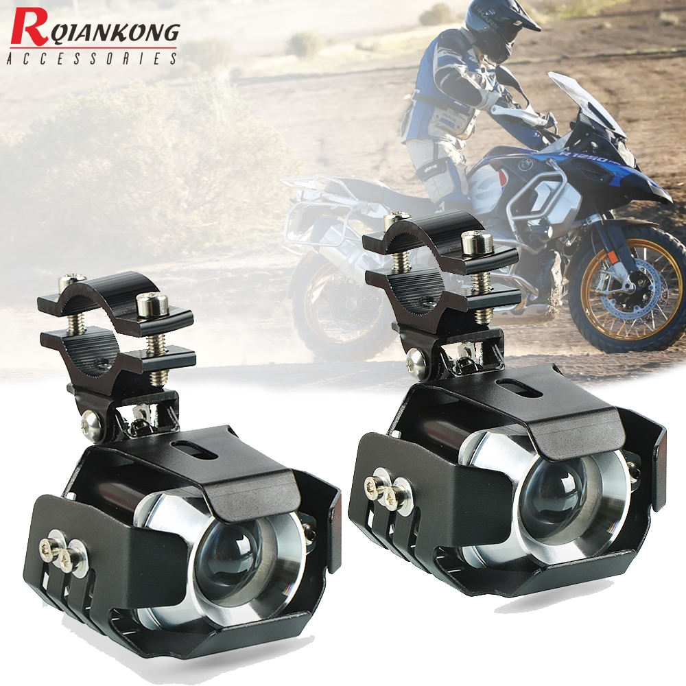 R 1250 GS Adventure 2Pcs/set Universal Motorcycle LED Auxiliary Light Fog Light Assemblie Driving Lamp For BMW R1250GS 2019 2020
