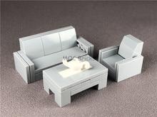 Набор Продажа кубики MOC DIY мебельный светильник Серый американский стиль набор диванов развивающие строительные блоки Фигурки игрушки детс...