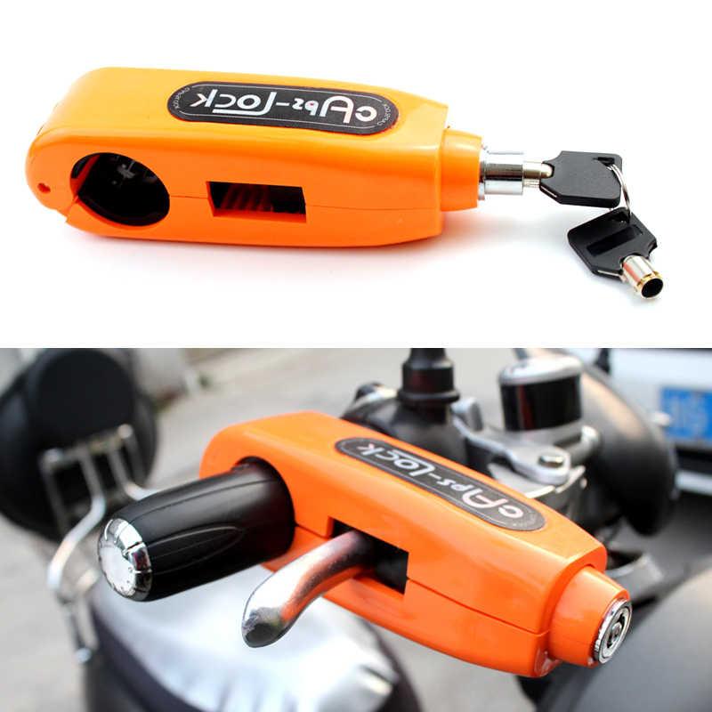 Details about  /Theft Security Cap Lock Motorcycle Handlebar Grip Brake Lever Lock Key Part Tool
