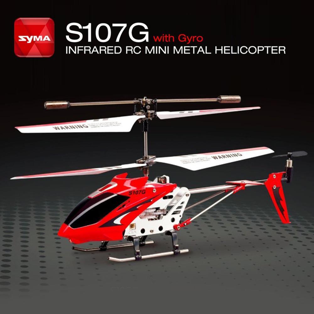 2019 nova atualização original syma s107g rc drone giroscópio metal infravermelho rádio 3ch mini helicóptero rc zangão brinquedo voador presente rtf para o miúdo