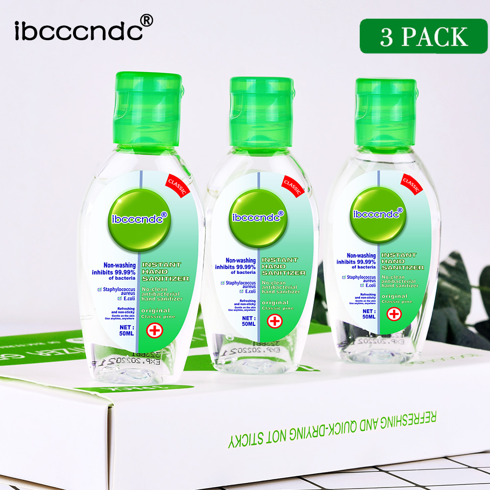 3Pack Portable Alcohol Hand Sanitizer Gel Anti-bacteria Moisturizing Liquid Disposable No Clean Waterless Antibacterial Hand Gel