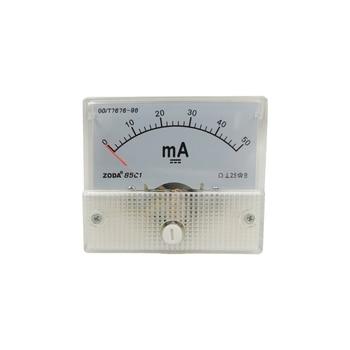 1PC 85C1-mA 30mA 50mA 200mA 50uA 500uA DC Direct Analog Meter Panel AMP Current Microammeter Gauge Pointer Milliammeter 64*56MM