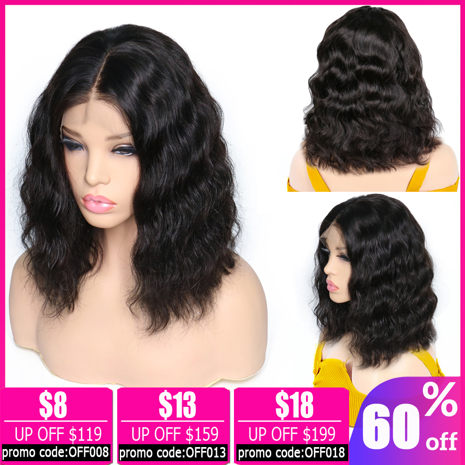Body Wave Wig Bob Lace Front Wigs Brazilian Wig 13x4 Short Lace Front Human Hair Wigs For Black Women Pixie Cut Wig Non-remy