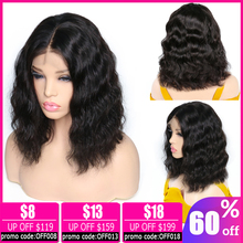 body wave wig Bob lace front Wigs Brazilian wig 13x4 Short lace front Human Hair Wigs For black Women pixie cut wig non-remy цена 2017