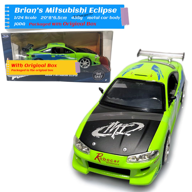 JADA 1/24 Scale Movie Series Car Model Toys Mitsubishi Eclipse Diecast Metal Car Toy For Collection/Gift/Decoration/Kids