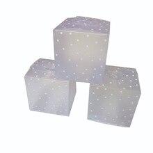 50/100 1080p 4 センチメートル、 5 センチメートル、 6 センチメートル正方形ドット半透明の Pvc キャンディーボックスクッキー梱包箱ジュエリーギフトボックスベビーシャワーの誕生日パーティーの装飾 77