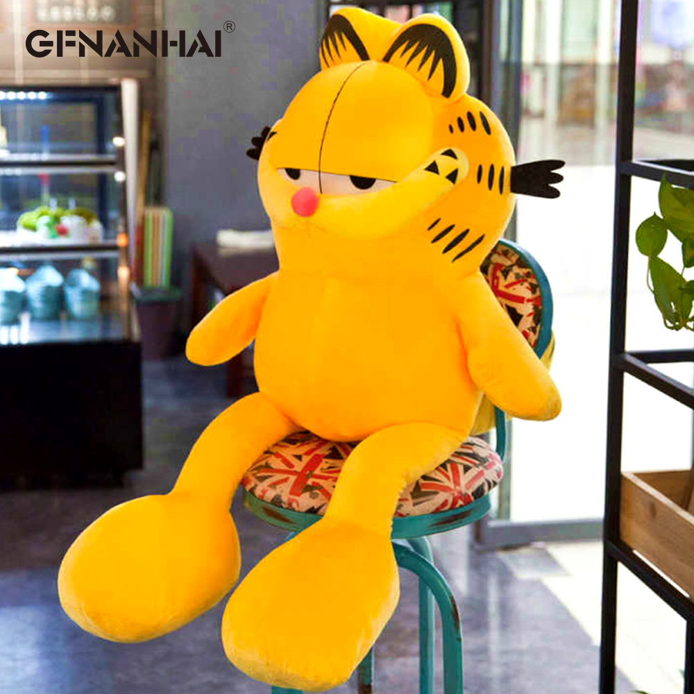 1pc 80/100CM Cute Garfield Cat Plush Toys Big Size Stuffed Soft Animal Cat Dolls For Children Kids Sleeping Pillow Cushion