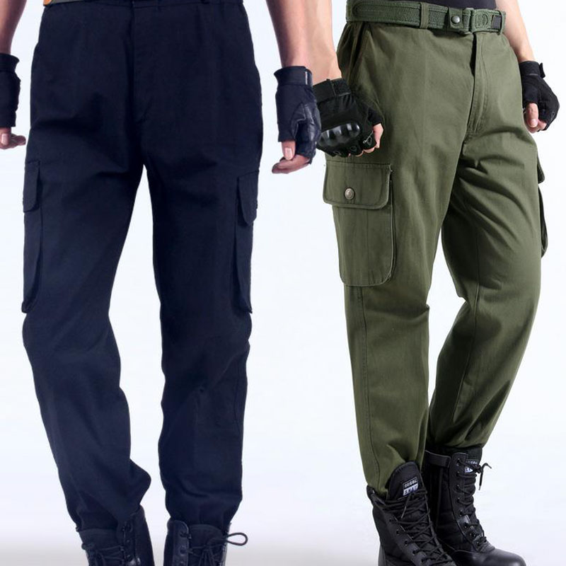 Work Pants Men's Auto Repair Labor Insurance Welding Factory Work Clothes Trousers Cotton Safety Clothing Pants