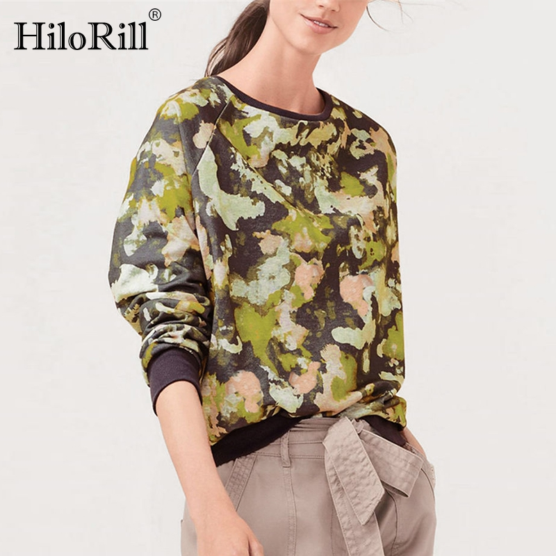 2019 Autumn Women Sweatshirt Casual Long Sleeve O Neck Print Pullover Jumper Hoodies Sweatshirts Leisure Tops Sudaderas Mujer
