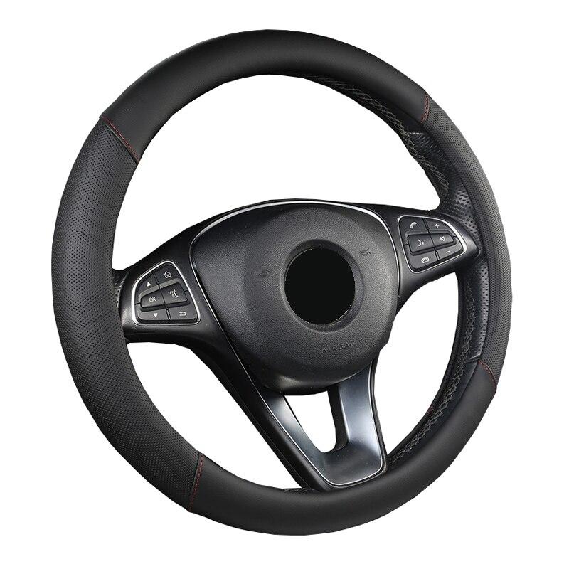 Housse de volant de voiture 5 couleurs pour femme fille respirant tresse sur le volant Funda Volante universel Auto voiture style