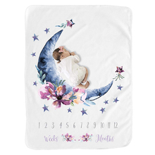 LOOZYKIT Newborns Baby Milestone Blanket