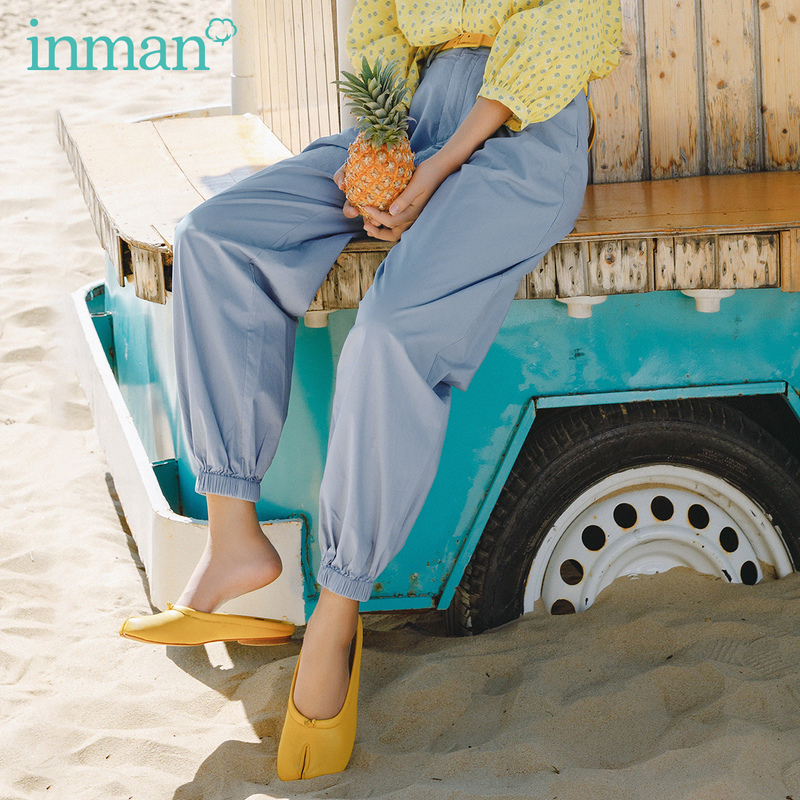 INMAN 2020 Summer New Arriavl Pure Cotton Fold Loose Frock Style Leisure Harem Pant
