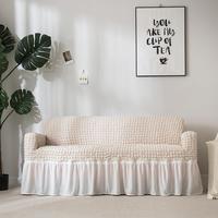 Stretch Sofa Cover Woven Plaid All inclusive Wear resistant Sofa Cushion #DO