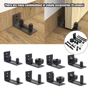 8 in 1 Carbon Steel Adjustable Sliding Floor Guide For Barn Door Hardware Accessory