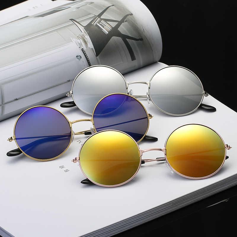 2018 neue Sunglases Runde neuheit sonnenbrille frauen hip hop stil farbe linsen retro gläser sommer reise trend zubehör glas