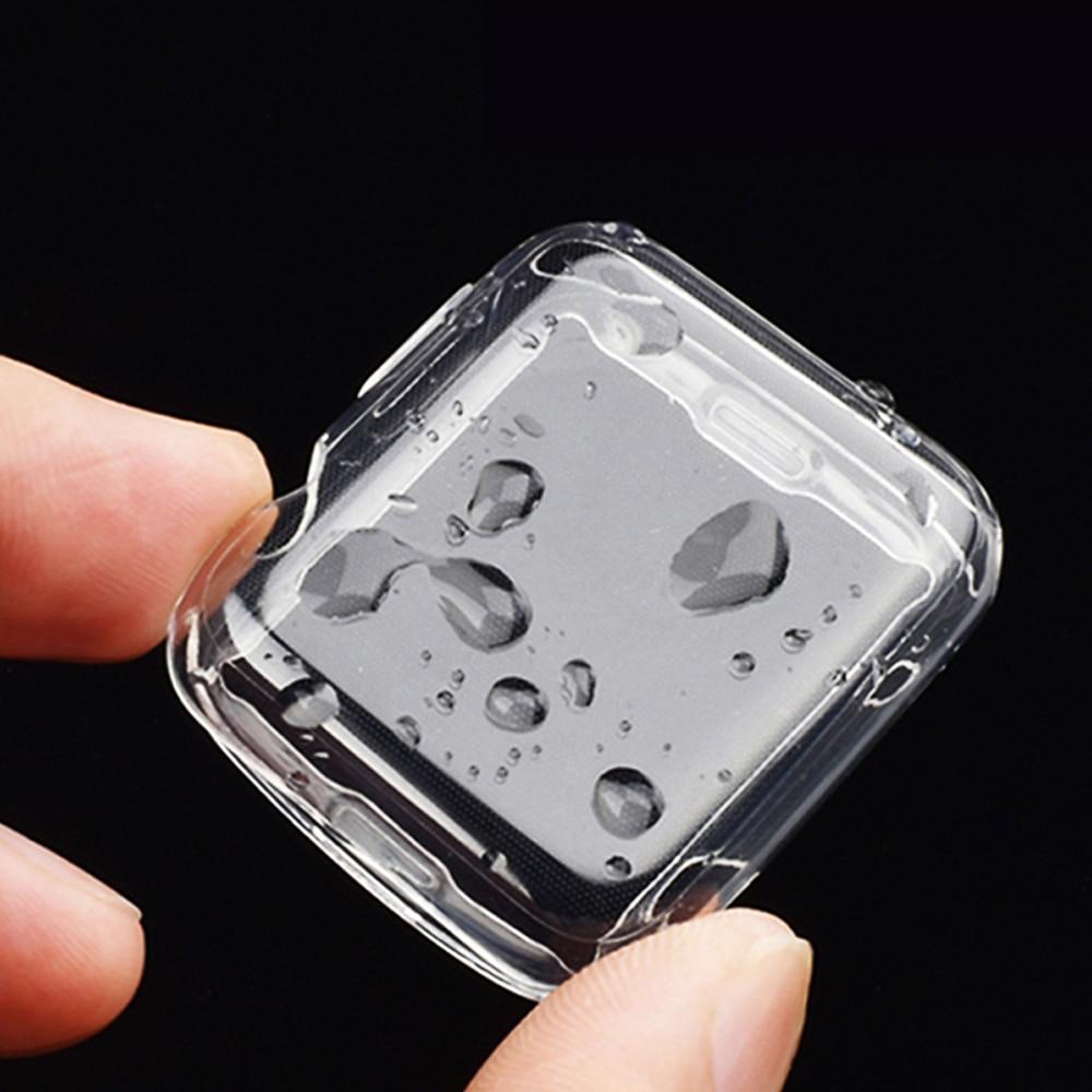 Защита экрана для Apple Watch 6 Чехол 44 мм 40 мм полный бампер из ТПУ чехол для iWatch 42 мм 38 мм аксессуары для iWatch Series 5 4 3 2 1