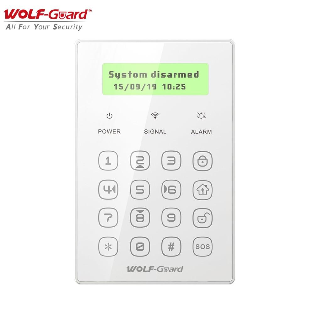 Wolf-Guard Wireless 433MHz Keypad Keyboard Arm /Disarm Mini Anti-Theft Controller for Home GSM Burglar Alarm Security System