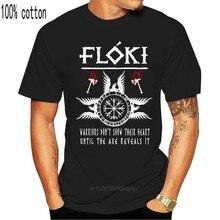 2019 moda Vikings giyim Floki alıntı T Shirt Ragnar Lothbrok Valhalla Tees