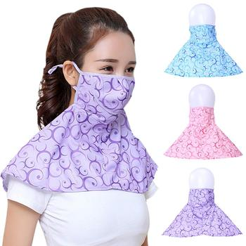 Women Summer Outdoor Breathable Neck UV Protection Shawl Sun-proof Face Mask