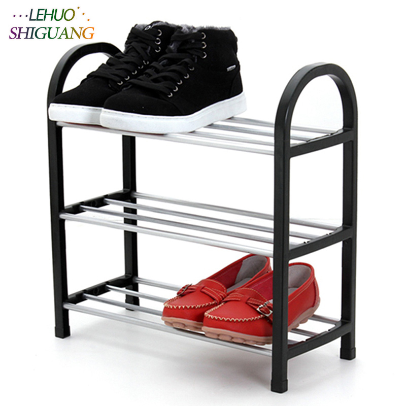 Shoes Shelf Easy Assembled Light Plastic 3 Tier Shoe Rack Shelf Storage Organizer Stand Holder Keep Room Neat Door Space Saving
