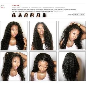 Image 5 - Mongolian Kinky Curly Hair 4 Bundles Deal 100% Human Hair Weave Bundles Online Natural Black Non Remy tissage cheveux bresiliens