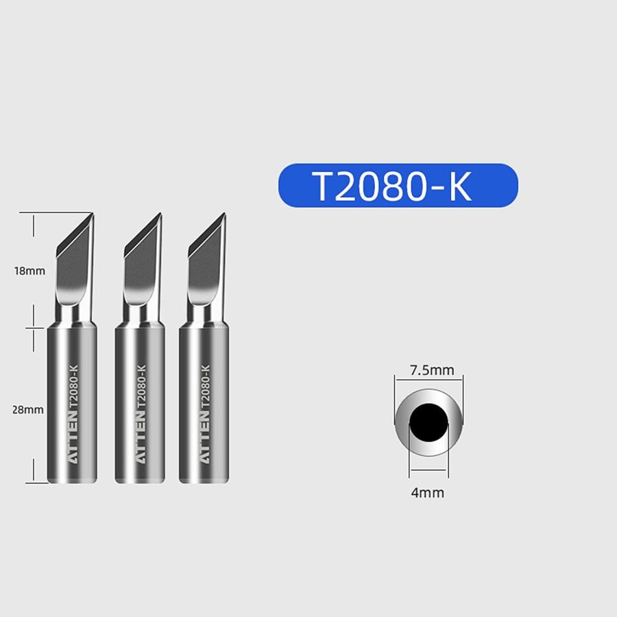 ATTEN Soldering Iron Tip Replacement Bit Head K B I 3C 5C 6.4C 3.2D 4.6D 6.5D 0.8D 1.6D 1.2D Lead Free for ST-2080 ST-2080D 5