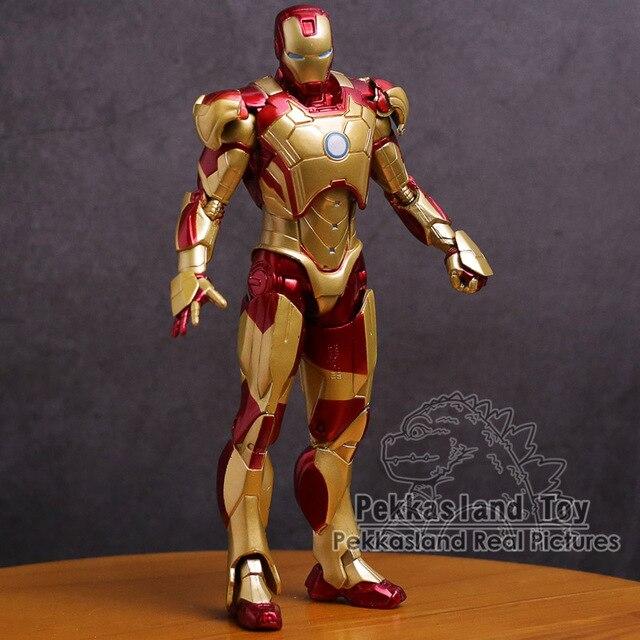 Iron Man Mark MK 42 Vàng Người Sắt Nhựa PVC Đồ Chơi