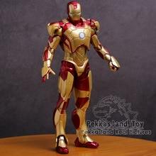 Iron Man figura de acción de PVC, Mark MK 42, oro, Iron Man, juguete de modelos coleccionables