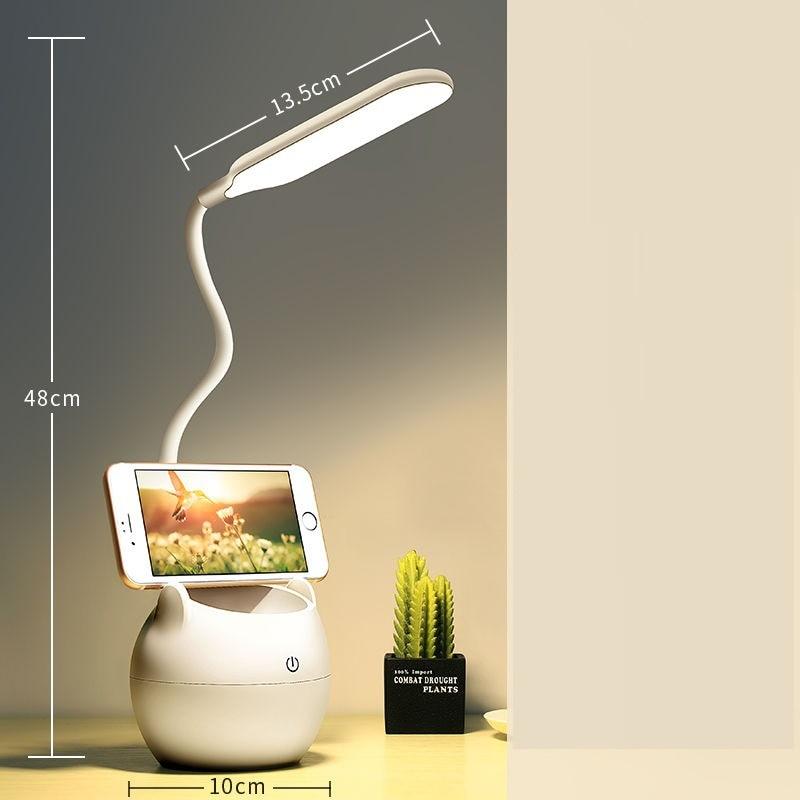 クリップライトled充電式目の保護学習子供の大学の寮テーブルランプの寝室のベッドサイドランプ