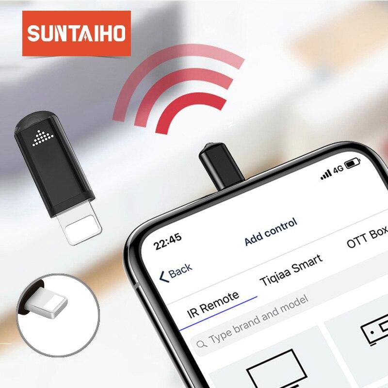 Suntaiho Универсальный умный инфракрасный пульт дистанционного управления для iphone Samsung Xiaomi Мини IP пульт дистанционного управления адаптер для ТВ Кондиционер ИК-передатчики      АлиЭкспресс