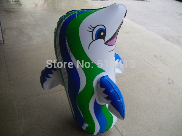 Inflatable Animal Inflatables Children Inflatable Toy Dolphins Penguin Tumbler Pull Carts Stall Selling Animals Standing Funny
