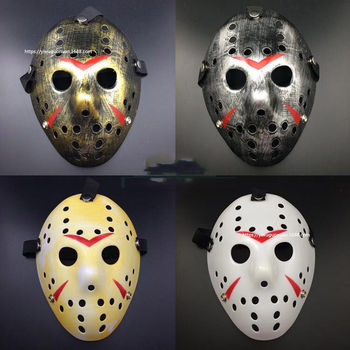 Stylish Myers Jason Voorhees VS. Freddy Costume Prop Friday the 13th Horror Hockey Mask Scary Halloween Mask Halloween Costume image