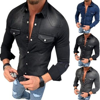 Denim Wash Long Sleeve Shirt 1