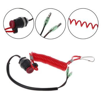 Boat Outboard Engine Motor Kill Stop Switch Motorboat Safety Tether Lanyard Cord Switch For Yamaha Marine Mercury Tohatsu 87 17009a5 boat motor ignition key switch for mercury outboard motors 3 position off run start