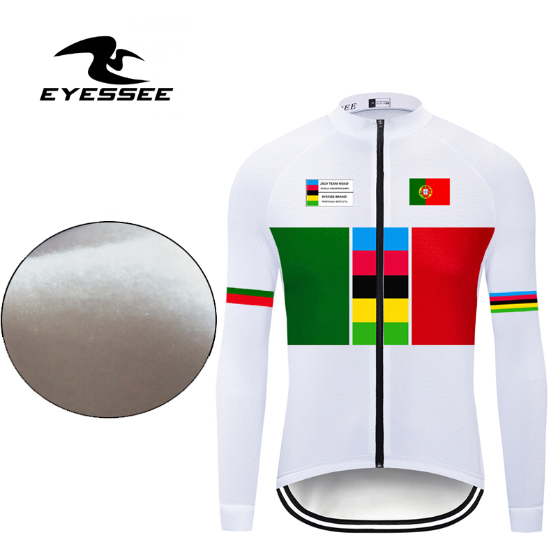 Bicycle-Clothing Cycling-Jersey Portugal Long-Sleeve Hot-Fleece Ropa-Ciclismo Winter
