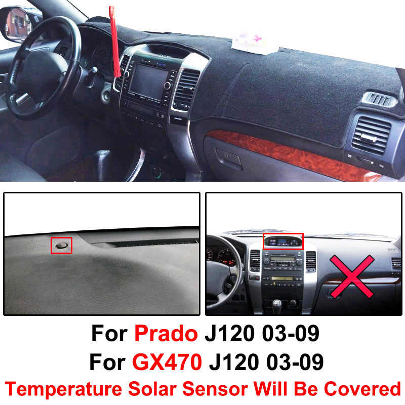 DashMat Original Dashboard Cover Toyota Land Cruiser Premium Carpet, Black