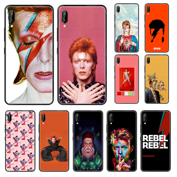 Rock David Bowie Phone case For Huawei Honor Mate 5 7 8 9 10 20 i A X Lite Pro black tpu coque 3D back trend shell soft prime image