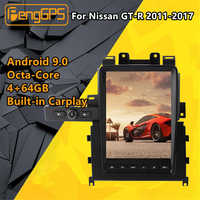 Radio Multimedia con GPS para coche, Radio con reproductor, diseño de GTR skyline 2009-2016, estéreo, pantalla Android Tesla, unidad principal de navegación, para Nissan GT-R