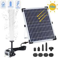 10W Bracket Solar Garden Miniature Fountain Pump Outdoor Hanging Solar Fountain Garden Decorative Fountain