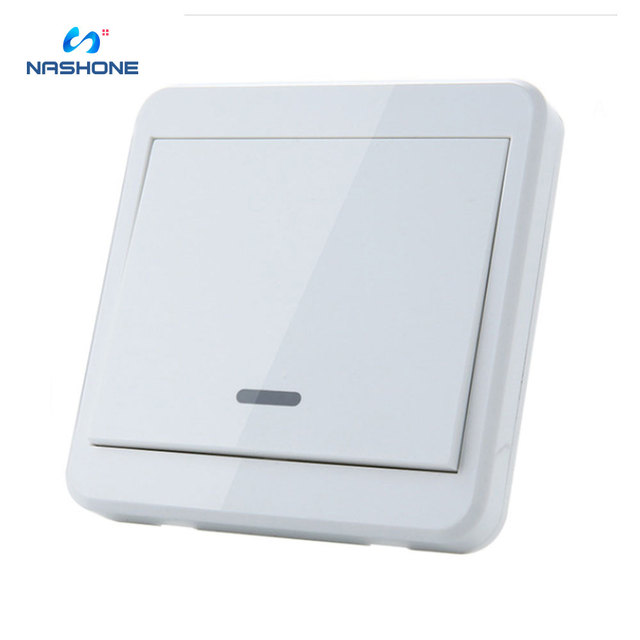 Interrupteur RF 433Hz sans fil interrupteur à distance 90 260V lampe lumière télécommande interrupteur ON OFF fil récepteur mural (vendu séparément)