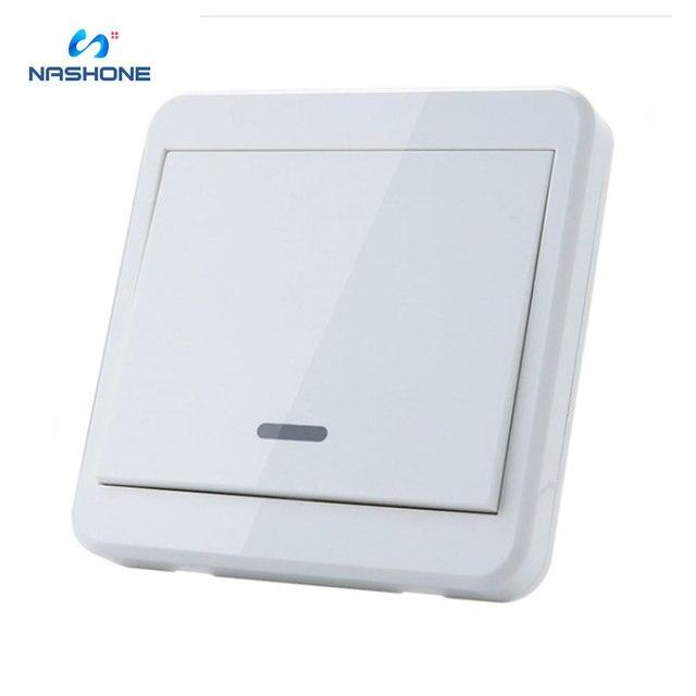 Interruptor de controle remoto da luz da lâmpada do interruptor 90 433 v do rf 260 hz wirelessremote no receptor fora da parede do fio (vendido separadamente)