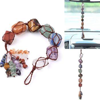 Κρεμαστό κόσμημα με κρυστάλλους και chakra stones
